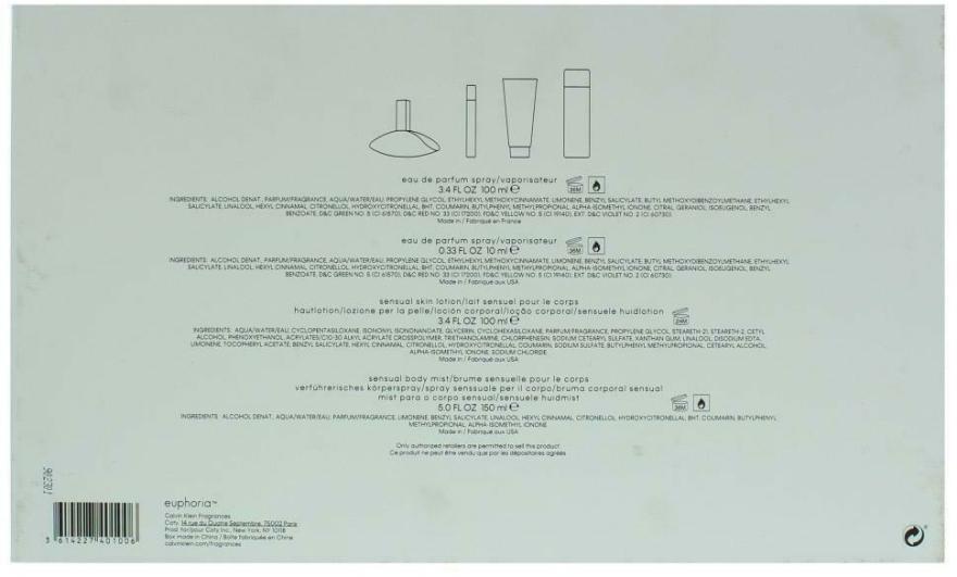 Calvin Klein Euphoria - Set (edp/100ml + edp/10ml + b/l/100ml + b/mist/150ml) — Imagine N2