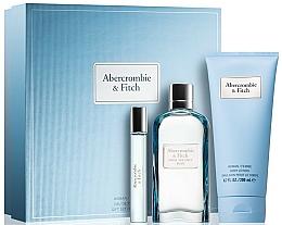 Parfumuri și produse cosmetice Abercrombie & Fitch First Instinct Blue Women - Set (edp/100ml + b/lot/100ml + edp/15ml)