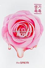 Parfumuri și produse cosmetice Mască din țesătură cu extract de trandafir pentru față - The Saem Natural Rose Mask Sheet