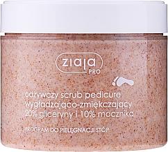 Parfumuri și produse cosmetice Scrub cu efect de netezire și de înmuiere pentru pedichiură - Ziaja Pro Scrub Pedicure