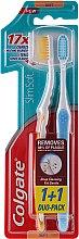 "Parfumuri și produse cosmetice Set ""Slim Soft"", moale, galbenă + albastră - Colgate Toothbrush"