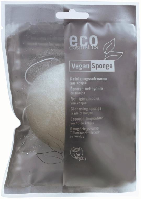 """Burete pentru față și corp """"Konnyaku"""" - Eco Cosmetics Cleansing Vegan Sponge Konjac — Imagine N1"""