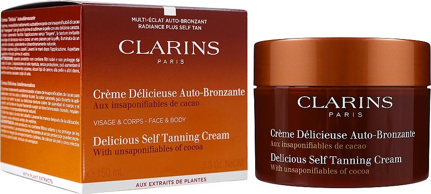 Autobronzant pentru față și corp - Clarins Delicious Self Tanning Cream — Imagine N2
