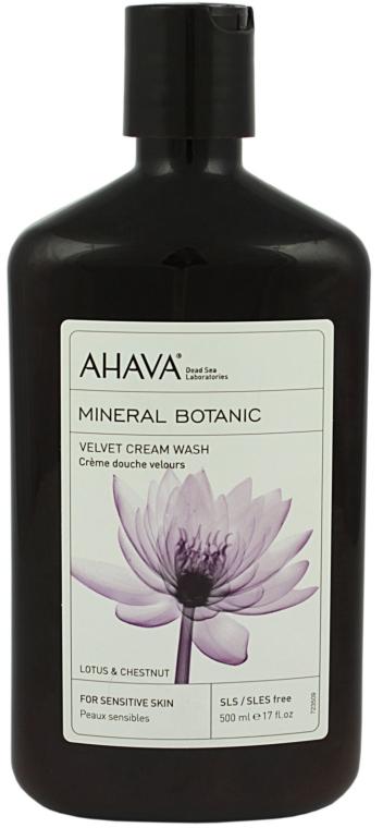 "Cremă de duș ""Lotus și castan dulce"" - Ahava Mineral Botanic Velvet Cream Wash Lotus Flower & Chestnut — Imagine N1"