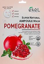 Parfumuri și produse cosmetice Mască de țesut cu extract de rodie - Ekel Super Natural Ampoule Pomegrante