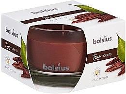 """Parfumuri și produse cosmetice Lumânare parfumată în suport de sticlă """"Arbore de agar"""", 63/90 mm - Bolsius True Scents Candle"""