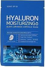 Parfumuri și produse cosmetice Mască cu acid hialuronic pentru față - Some By Mi Hyaluron Moisturizing Glow Luminous Ampoule Mask