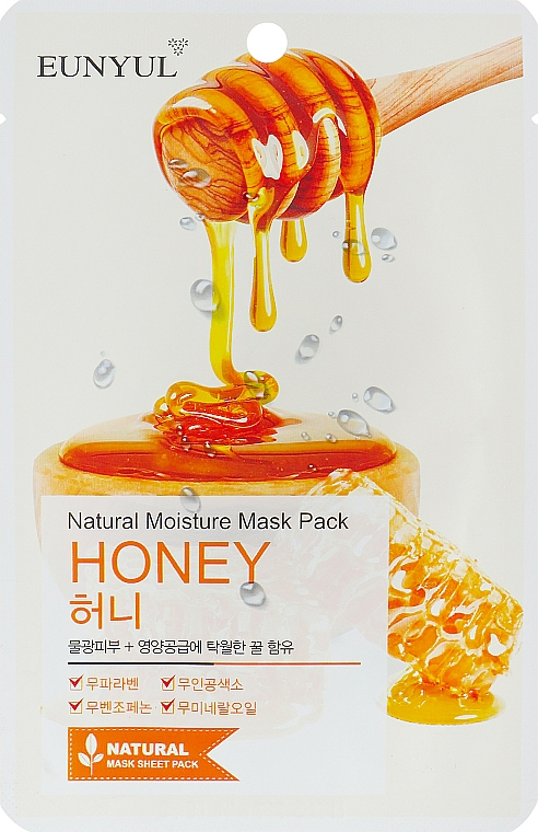 Mască de țesut cu extract de miere - Eunyul Natural Moisture Mask Pack Honey