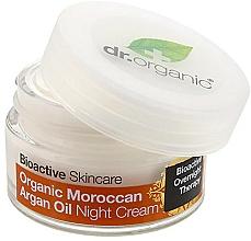 """Parfumuri și produse cosmetice Cremă de noapte pentru corp """"Ulei de argan marocan"""" - Dr. Organic Bioactive Skincare Organic Moroccan Argan Oil Night Cream"""