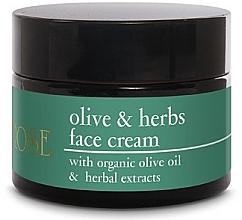 Parfumuri și produse cosmetice Cremă cu ulei de măsline pentru față - Yellow Rose Olive & Herbs Face Cream