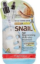 Parfumuri și produse cosmetice Mască regenerantă de față - Purederm Snail Age Regenerating Multi Steps Treatment
