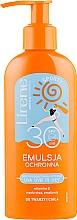 Parfumuri și produse cosmetice Emulsie pentru bronzare - Lirene Sun Care Sporty Moisturizing Emulsion SPF30 (cu dozator)