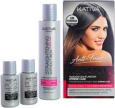 Parfumuri și produse cosmetice Set - Kativa Anti-Frizz Straightening Without Iron Xtreme Care (mask/150ml + shm/30ml + cond/30ml)