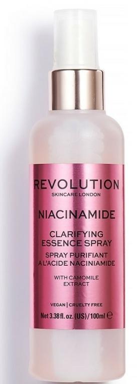 Spray pentru față - Makeup Revolution Niacinamide Clarifying Essence Spray