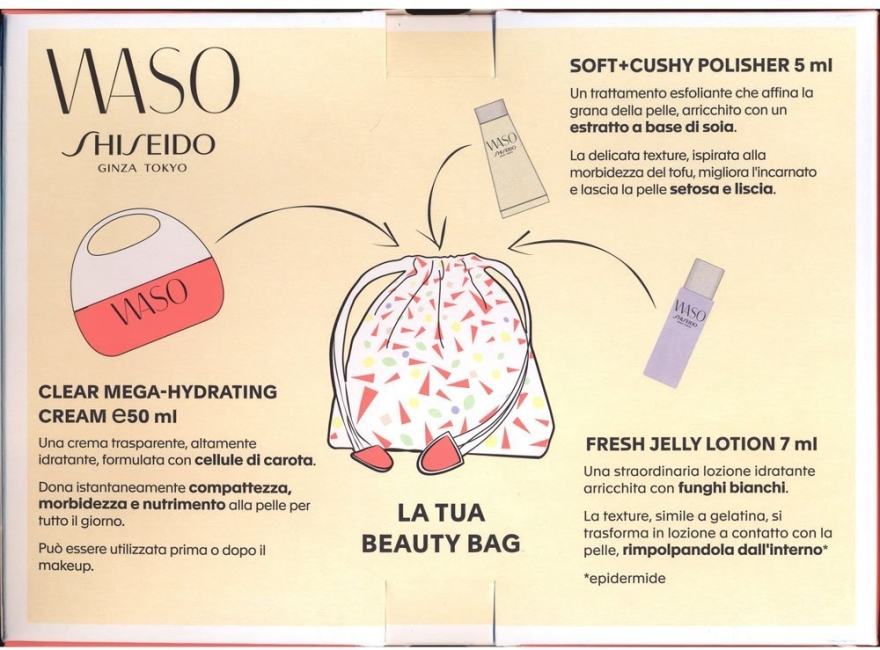 Set - Shiseido Waso Set(cr/50ml + polisher/5ml + lot/7ml)  — Imagine N2