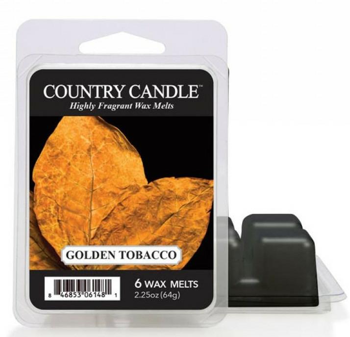 Ceară aromată - Country Candle Golden Tobacco Wax Melts — Imagine N1