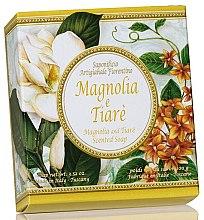 """Săpun natural """"Magnolia și Tiare"""" - Saponificio Artigianale Fiorentino Magnolia & Tiare Soap — Imagine N1"""