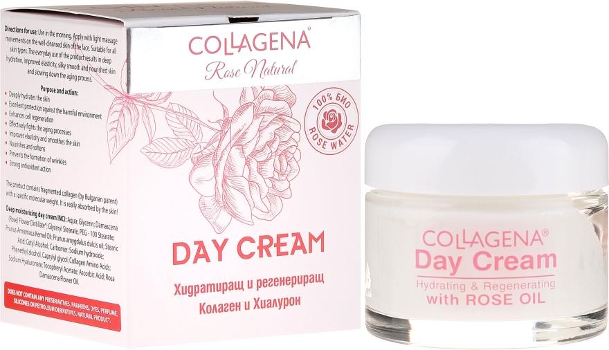 Cremă de zi pentru față - Collagena Rose Natural Day Cream — Imagine N1