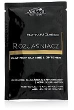 Parfumuri și produse cosmetice Iluminator pentru păr - Joanna Professional Platinum Classic Lightener (sashet)