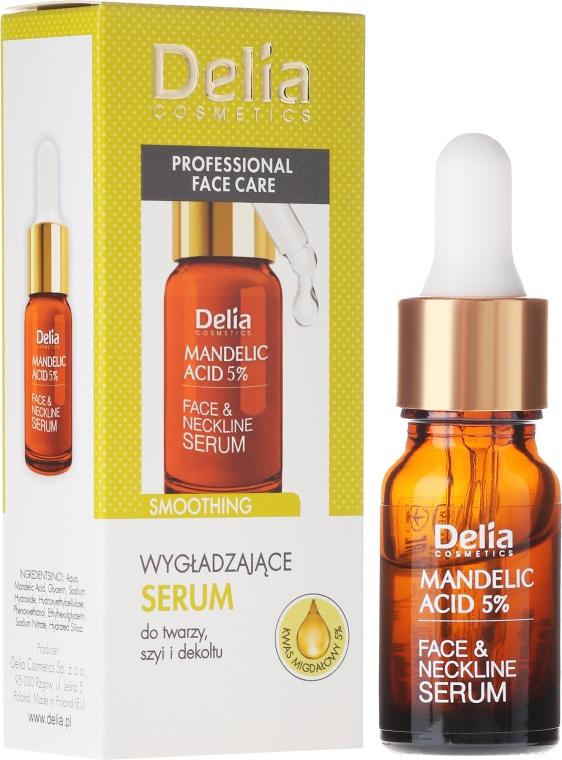 Ser pentru față, gât și decolteu, cu acid de migdale - Delia Mandelic Acid 5% Active Face & Neckline Serum