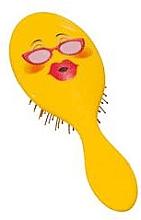 Parfumuri și produse cosmetice Perie de păr 2003W, smiley cu ochelari - IDC Institute Design XL Detangle Brush