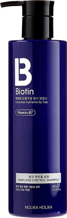 Șampon împotriva mătreții și căderii părului - Holika Holika Biotin Hair Loss Control Shampoo