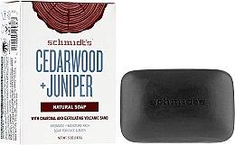 Parfumuri și produse cosmetice Săpun - Schmidt's Naturals Bar Soap Cedarwood Juniper With Charcoal