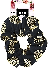 Parfumuri și produse cosmetice Elastic de păr, 417609, aurie cu negru - Glamour