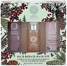 Parfumuri și produse cosmetice Set - Natura Siberica Natural & Organic Rich Repair Hair Kit (shm/250ml + balm/250ml + gel/125ml)
