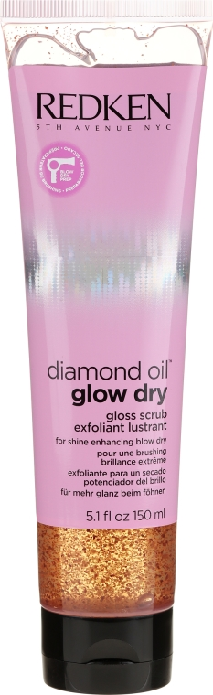 Scrub pentru păr - Redken Diamond Oil Glow Dry Gloss Scrub — Imagine N1