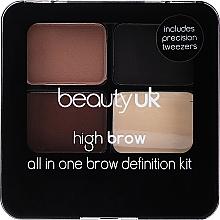 Parfumuri și produse cosmetice Set pentru sprâncene - Beauty UK High Brow and Eyebrow Kit