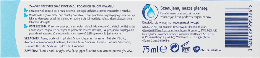 Pastă de dinți - Sensodyne Pronamel Extra Fresh — Imagine N3