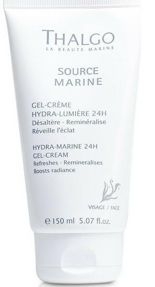 Gel-cremă pentru hidratarea feței, 24h - Thalgo Hydra-Marine 24h Gel-Cream Salon Size — Imagine N1