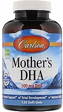 Parfumuri și produse cosmetice DHA pentru mamele care alăptează, 500 mg - Carlson Labs Mother's DHA