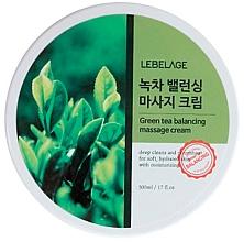 Parfumuri și produse cosmetice Cremă de masaj cu extract de ceai verde - Lebelage Green Tea Balancing Massage Cream