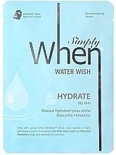 Parfumuri și produse cosmetice Mască hidratantă din țesătură pentru ten uscat - When Simply Water Wish