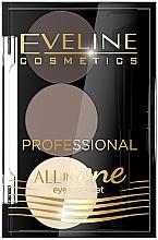 Parfumuri și produse cosmetice Set pentru make-up și stilizarea sprâncenelor - Eveline Cosmetics All In One Eyebrow Styling Set