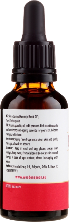 Ulei de trandafir - Wooden Spoon Rosehip Oil — Imagine N2