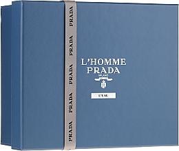 Parfumuri și produse cosmetice Prada L'Homme Prada L'Eau - Set (edt/100ml +edt/10ml + sh/gel/100ml)