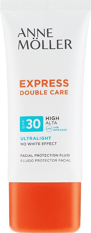 Fluid cu protecție solară pentru față - Anne Moller Double Care Ultralight Facial Protection Fluid SPF30 — Imagine N2