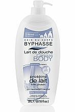 """Parfumuri și produse cosmetice Cremă de duș """"Proteină de lapte"""" - Byphasse Caresse Shower Cream"""