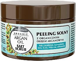 Parfumuri și produse cosmetice Peeling de sare cu ulei de argan - GlySkinCare Argan Oil Salt Scrub