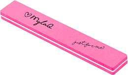 Parfumuri și produse cosmetice Pilă-buffer pentru unghii, 100/180, roz - MylaQ