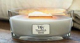 Lumânare parfumată în suport de sticlă - WoodWick Hearthwick Flame Ellipse Candle Warm Wool — Imagine N3
