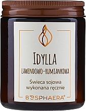 """Parfumuri și produse cosmetice Lumânare parfumată din soia """"Idila. Lavandă-mușețel"""" - Bosphaera"""