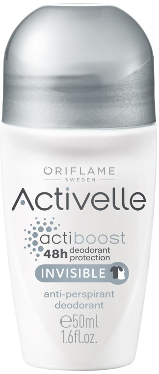 Deodorant-Antiperspirant Roll On 48h - Oriflame Activelle Actiboost Invisible — Imagine N1