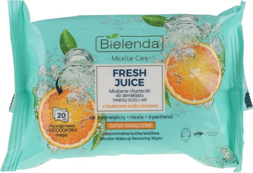 "Șervețele micelare demachiante ""Orange"" - Bielenda Fresh Juice Micelar Make-up Removing Wipes — Imagine N1"