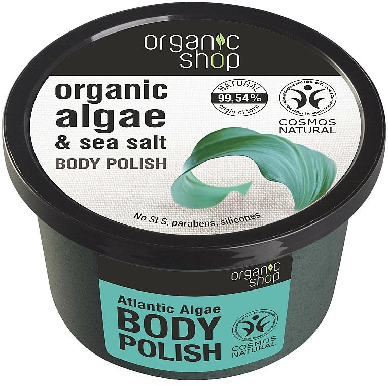 Scrub de corp cu alge marine - Organic Shop Body Scrub Organic Algae & Sea Salt — Imagine N1