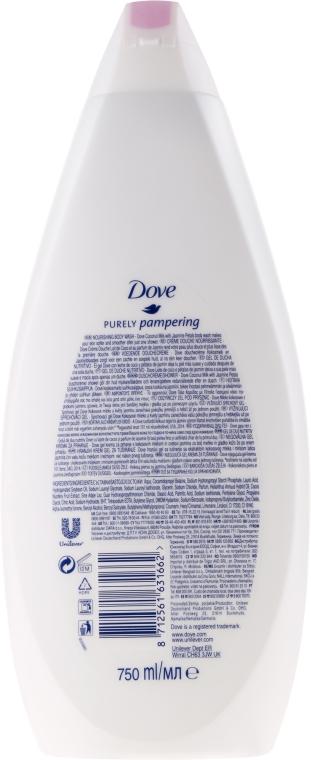 """Cremă gel de duș """"Lapte din nucă de cocos și petale de iasomie"""" - Dove — Imagine N3"""