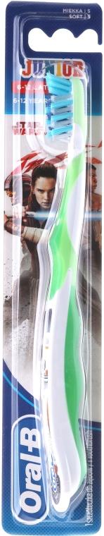Periuță de dinți 6-12 ani, moale, alb + verde - Oral-B Junior Star Wars R2D2 — Imagine N1